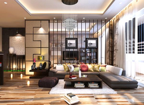 Thiết kế nội thất phòng khách phù hợp với phong thủy