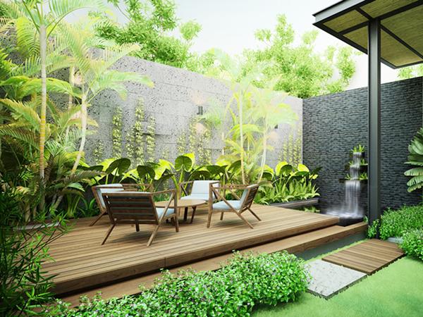 Tư vấn thiết kế sân vườn nhà phố phù hợp với phong thủy